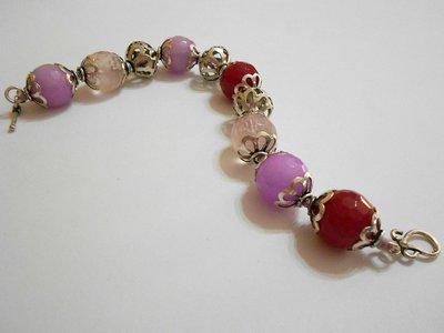 Bracciale in quarzo rosa