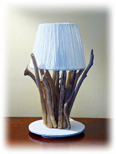 ELALU' lampada con legni di mare