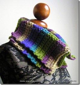 Schema per Scaldacollo Calì a uncinetto - crochet (misure uomo-donna)