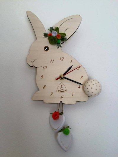 Orologio da parete coniglio