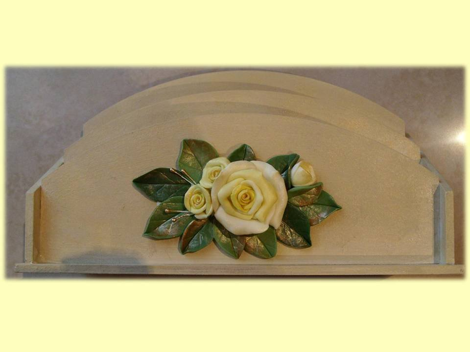 Portaposta da tavolo con rose
