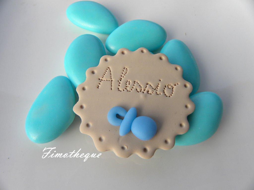 bomboniera calamita biscotto e ciuccio