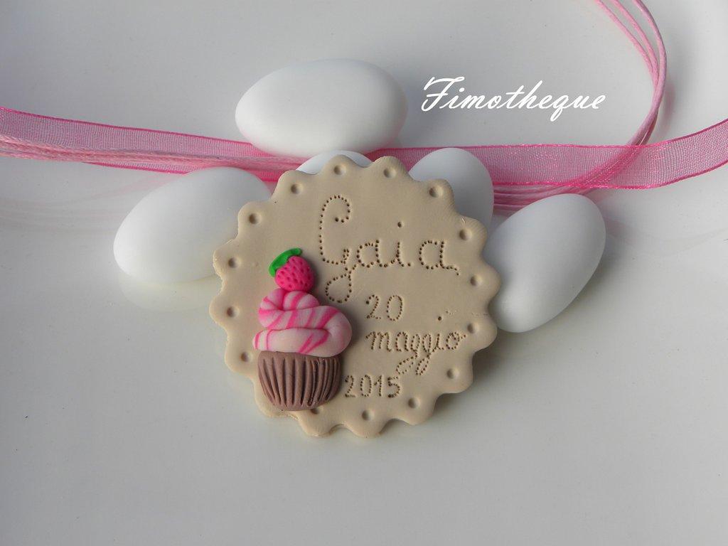 bomboniera calamita biscotto e cupcake