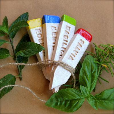Etichette in ceramica per piante aromatiche idea regalo e - Piante regalo ...