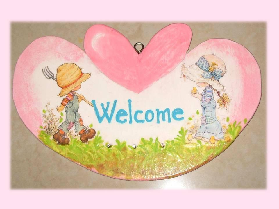 Targhetta-appendino Welcome Sarah Kay