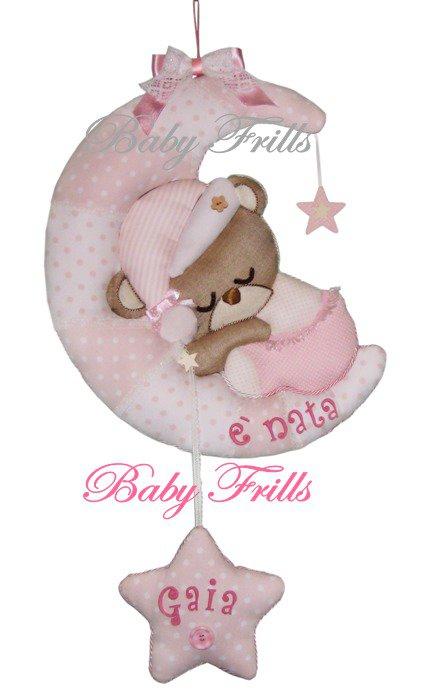 """Fiocco di nascita """"Orsetta dormigliona"""""""