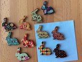 10 bottoni coniglio