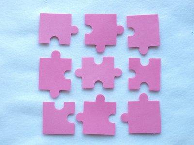 Set 9 elementi fustellati - Puzzle