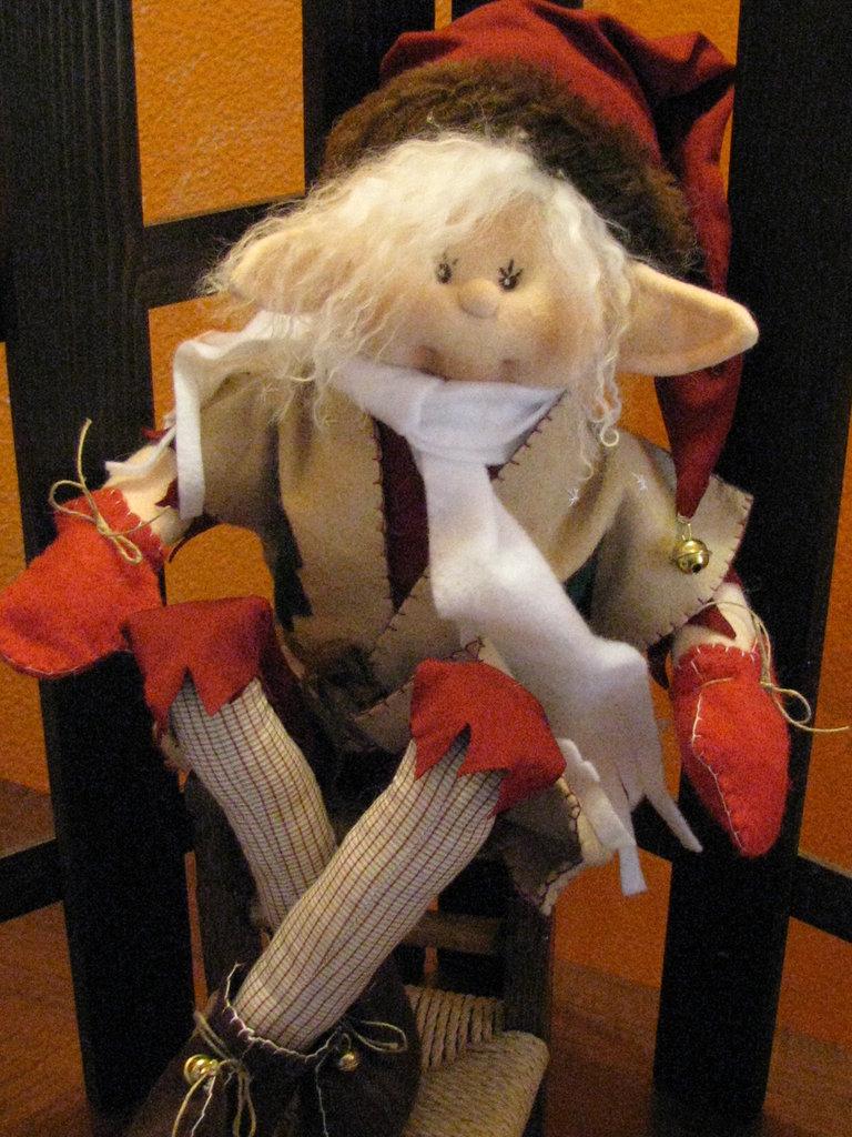 """Cartamodello Folletto """"Aiutante di Babbo Natale"""""""