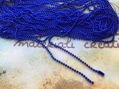 Base per collana a pallini blu