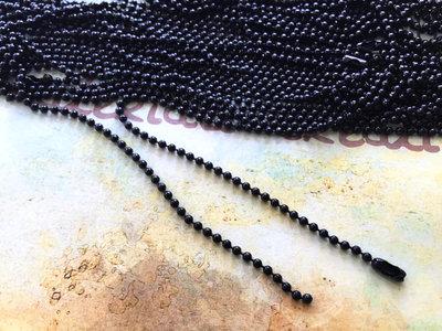 Base per collana a pallini nera