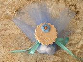 bomboniera calamita biscotto confezionata con tulle