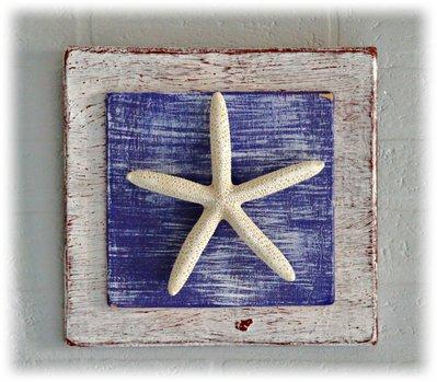 Quadretto decorativo con stella di mare