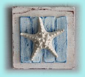 Quadretto decorativo con stella di mare