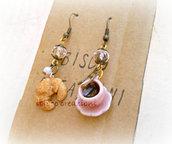 Orecchini pendenti - Caffè&Cornetto - Mod.Rosa