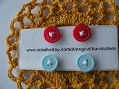orecchini  bottone a clip