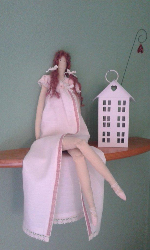 """""""Margherita"""" Bambola di stoffa fatta a mano"""