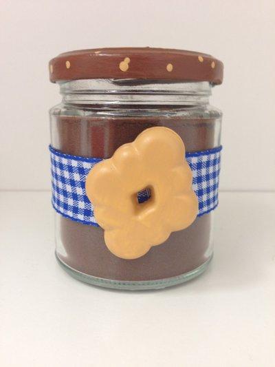 goloso barattolo decorato con biscotto campagnola in ceramica, realizzato e dipinto a mano