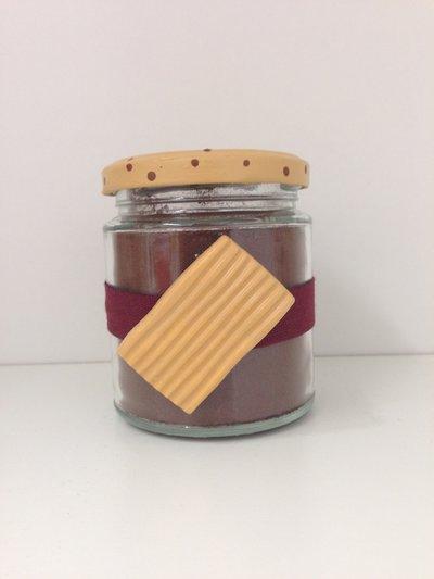 goloso barattolo decorato con biscotto Rigolo in ceramica, realizzato e dipinto a mano
