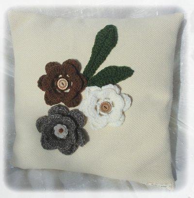 Cuscino fiori di lana