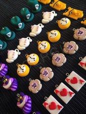 I protagonisti di Alice nel Paese delle Meraviglie realizzati a mano per decorare le vostre bomboniere