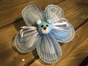 Orsetto interamente realizzato a mano in pasta FIMO ideale per decorare le vostre bomboniere