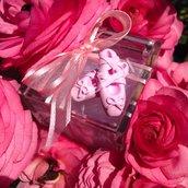 Scarpette da ballerina interamente realizzate a mano in pasta FIMO ideale per decorare le vostre bomboniere