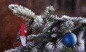 Addobbo Natale: Babbo Natale. Decoro per Albero o pacchetto regalo