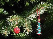 Addobbo Natale: abete decorato. Decoro per Albero o pacchetto regalo