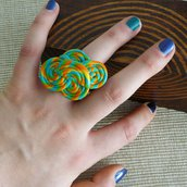 Anello girelle colorate