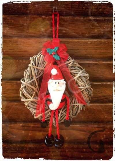 Ghirlanda decorativa con Babbo Natale