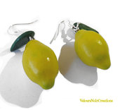 Orecchini limoni della costiera sorrentina creati a mano in fimo
