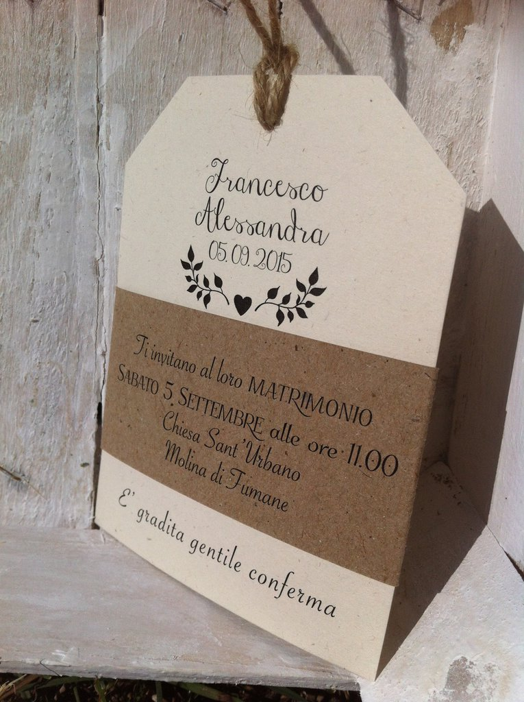 Très Tag partecipazioni - save the date - country chic - rustic  AX88