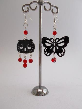"Orecchini ""Sundry Molds"" - Owl-Butterfly"