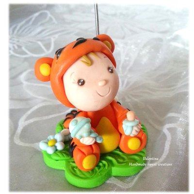 Bomboniera portafoto nascita Battesimo tigre animale