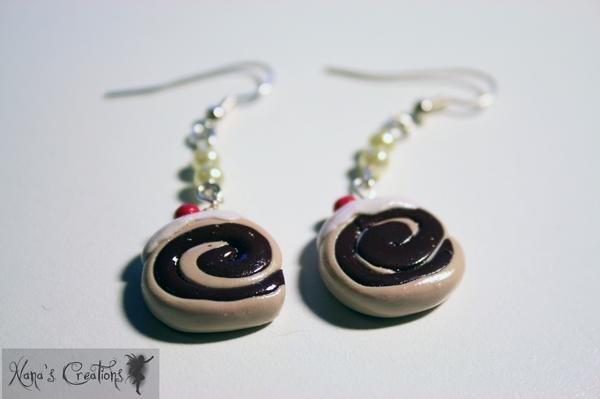 orecchini girelle al cioccolato