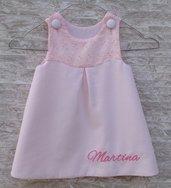 Vestito bimba neonata personalizzato con nome - Fatto a mano