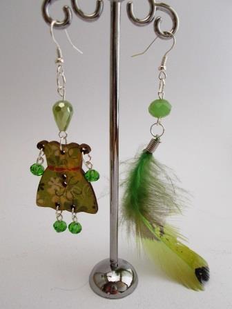 "Orecchini ""Sundry Molds"" - Feather-Doll verde"