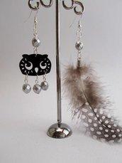 """Orecchini """"Sundry Molds"""" - Owl-Feather argento"""