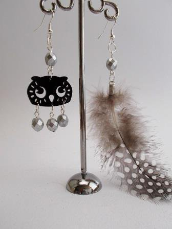 "Orecchini ""Sundry Molds"" - Owl-Feather argento"