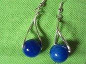 orecchini giada blu