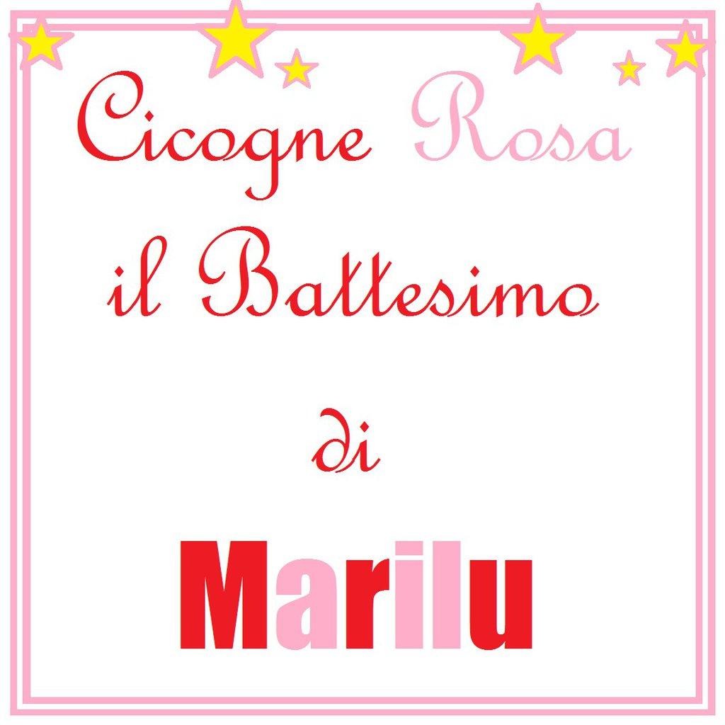 Cicogne rosa per Marilu ed il battesimo della sua bambina