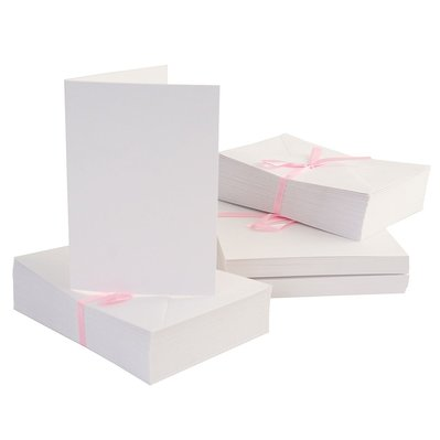 Set 100 carte e buste A6 - Bianco