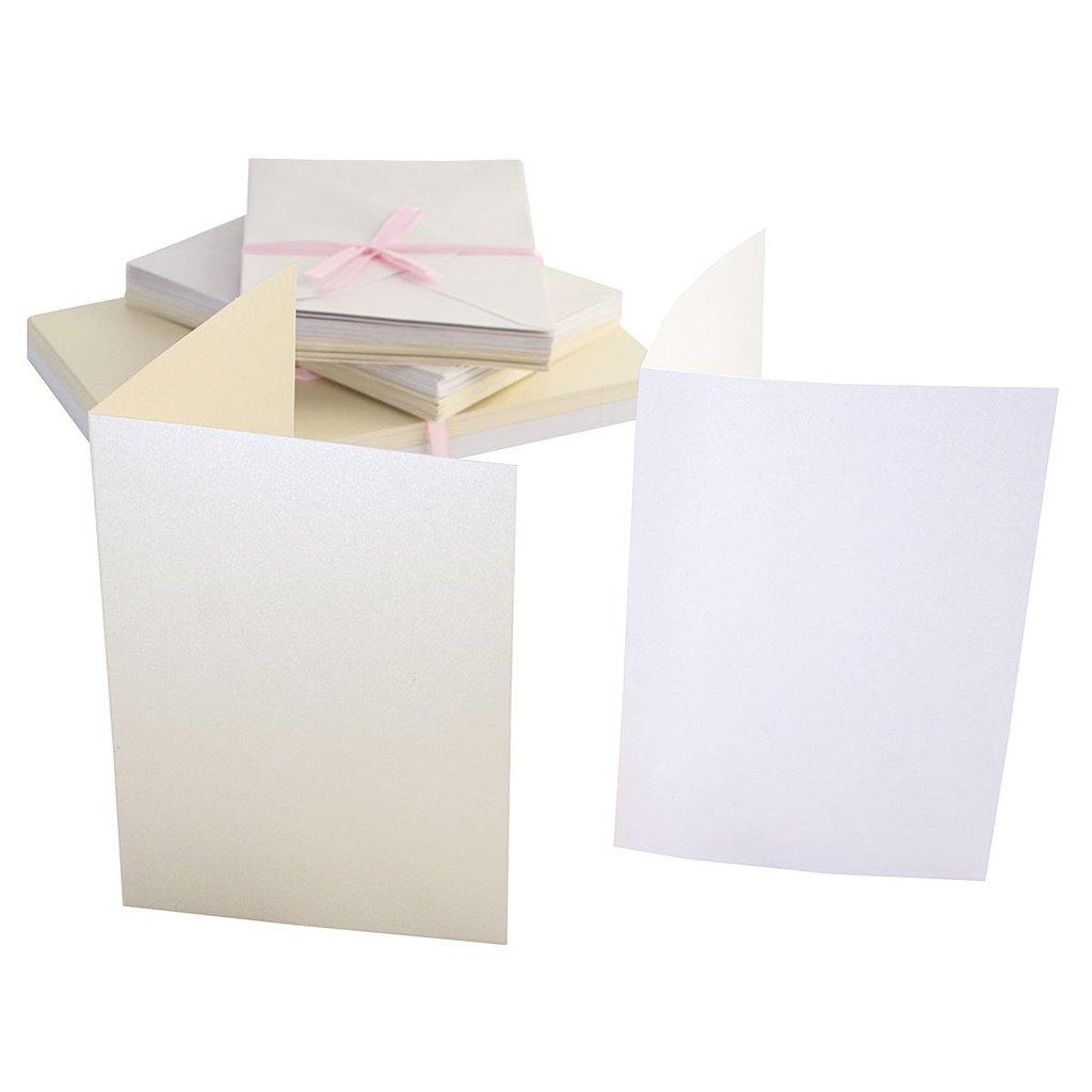 Set 50 carte e buste A6 - Timeless Pearlescent