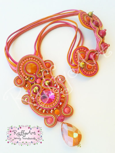 """Collana """"Tropical Sunset"""" (abbinabile con orecchini e bracciale)"""