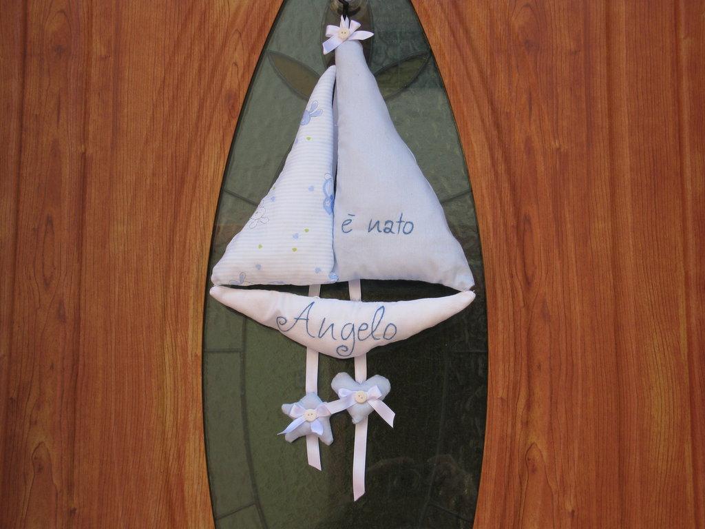 fiocco nascita barca decorazione