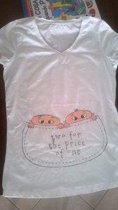 maglietta premaman decorata a mano