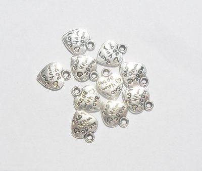 CHARMS MADE WITH  LOVE 10 PZ