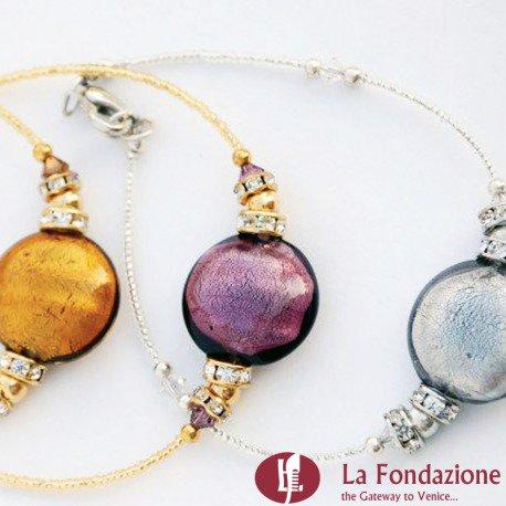 Bracciale Shissa cristallo in vetro di Murano fatto a mano