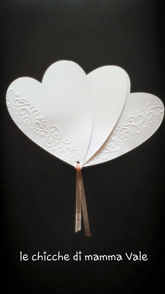 ventagli cuore matrimonio fatti a mano